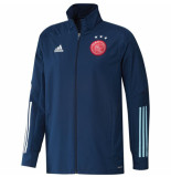 Adidas Ajax trainingsjack 2020-2021 mystery blue