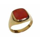 Christian Gouden agaat cachet ring