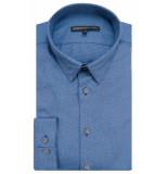 Drykorn Maris slim fit overhemd met lange mouwen blauw