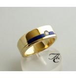 Atelier Christian Gouden lapis lazuli ring