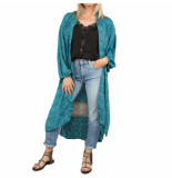 SISSEL EDELBO Morning glory long pocket kimono blauw