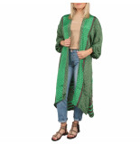 SISSEL EDELBO Morning glory long pocket kimono groen
