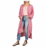 SISSEL EDELBO Morning glory long pocket kimono roze