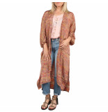 SISSEL EDELBO Morning glory long pocket kimono rood