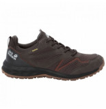 Jack Wolfskin Wandelschoen men woodland texapore low espresso dark red bruin