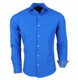 Brentford and Son Jan paulsen heren overhemd regular fit kobalt