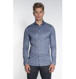 Drykorn Solo casual overhemd met lange mouwen blauw
