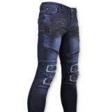 True Rise Biker jeans ripped 3027