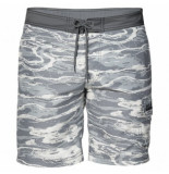 Jack Wolfskin Zwembroek laguna boardshorts men titanium all over grijs