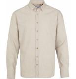Kronstadt Heren overhemd dean diego off white flanel wit