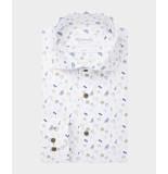 Michaelis Heren overhemd met zomerse print slim fit