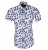 Ferlucci heren korte mouw overhemd torino geblokt