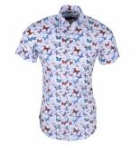 Ferlucci heren korte mouw overhemd torino vlinders