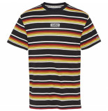 Tommy Hilfiger Dm0dm08438 stripe t-shirt – 0ap black/multi –