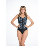 Bomain Ladies swimsuit stripe & print 21015-200