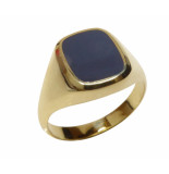 Christian 14 karaat gouden lagensteen cachet ring