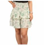 Sissel Edelbo Suleima silk mini skirt groen