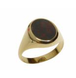 Christian Gouden heliotroop cachet ring