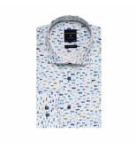 Profuomo Overhemd wit met vissenprint