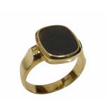 Christian Gouden heliotroop cachet ring geel goud