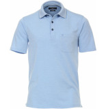 Casamoda Sport poloshirt faded borstzak regular fit
