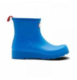 Hunter Regenlaars women original play boot short bucket blue blauw