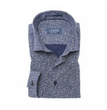 Ledûb Ledub overhemd blauw dessin