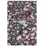 Kronstadt Overhemd johan exotic witte bloem print slim fit blauw