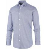 Blue Industry Overhemd pied de poule semi spread