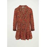 My Jewellery Rode a-lijn jurk luipaard