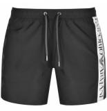 Emporio Armani Swim short side logo zwart