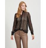 Vila 14058852 vijenna l/s lace shirt