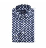 Cavallaro Cavallaro overhemd bloemprint blauw