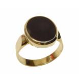 Christian Gouden 14 karaat lagensteen cachet ring
