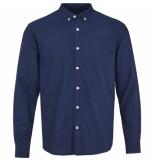Kronstadt Overhemd johan oxford washed donker button down slim fit