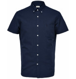Selected Homme Heren overhemd korte mouw button-down regular fit