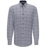 Fynch-Hatton Overhemd aarde button down casual fit
