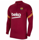 Nike Fc barcelona drill top 2020-2021 kids noble red