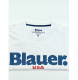 Blauer T-shirt o-hals