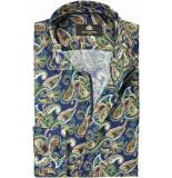 Circle of Gentlemen Overhemd chiel kleuren paisley print slim fit