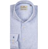 Thomas Maine Overhemd streep linnen cutaway tailored fit
