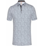 Desoto Polo met print jersey slim fit