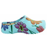 Birkenstock Super birki ciel blue flower pu regular
