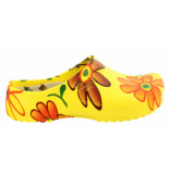 Birkenstock Super birki yellow flower pu regular