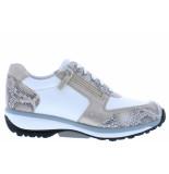 Xsensible Damesschoenen van type sneakers wembley 30103.3 155 white nude van leer
