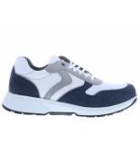 Xsensible Herenschoenen van type sneakers berlin 30402.3 248 navy white van leer