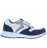 Xsensible Herenschoenen van type sneakers berlin 30402.3 248 navy white van leer