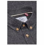 Kronstadt Heren overhemd donker johan diego regular fit
