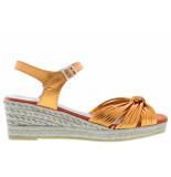 Kanna Damesschoenen van type sandalen 20341 orange van leer