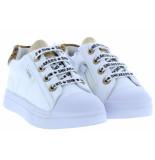 Shoesme Meisjesschoenen van type sneakers sh20s004-a white leopardo van leer